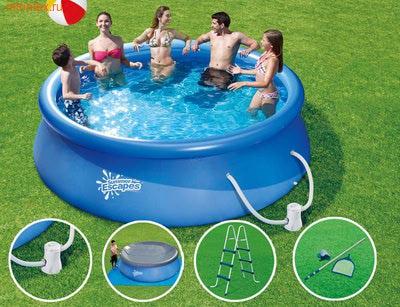 Summer Escapes Бассейн надувной 365х99см (фильтр-насос 220 В, лестница, подстилка, тент, набор д/чистки)