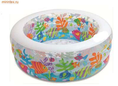 """INTEX Детский бассейн """"Аквариум"""" с надувным дном 152х56 см (от 6-и лет)"""