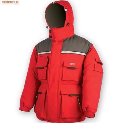 "NovaTour Куртка ""Буран"" N(Серый/красный)"