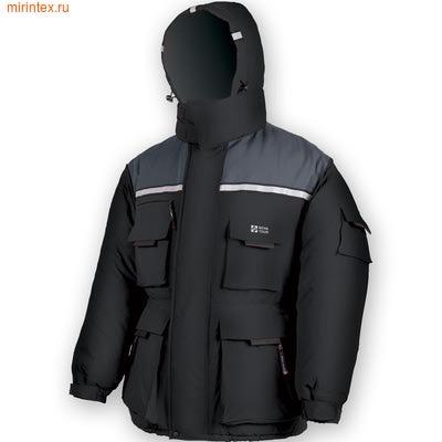 """NovaTour Куртка """"Буран"""" N(Серый/Чёрный)"""