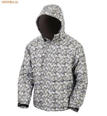 """NovaTour Мужская зимняя куртка """"Рапид М""""(Черно-серый принт)"""