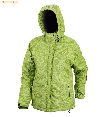 """NovaTour Женская зимняя куртка """"Рапид W""""(Желто-зеленый принт)"""