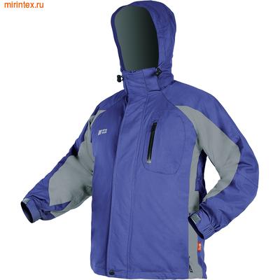 """NovaTour Куртка 3 в 1 """"Эксель""""(Серый/электрик блю)."""