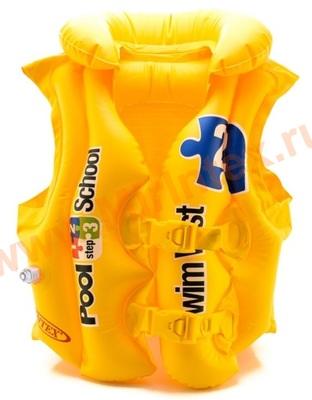 INTEX 58660 Жилет надувной для плавания, pool school step 2, 3-6 лет.