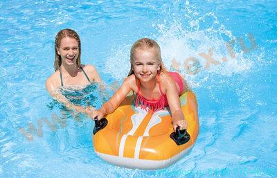 INTEX Надувной плот Серф 112х62 см оранжевый (без насоса)