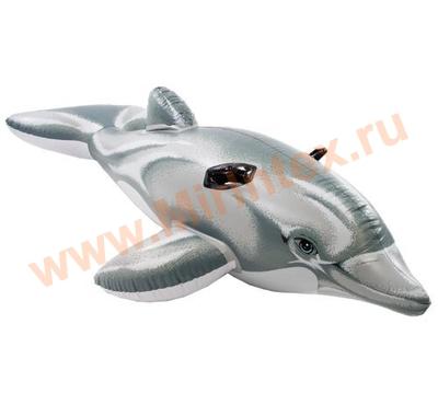 INTEX Плотик Дельфин 175х66см, от 3 лет