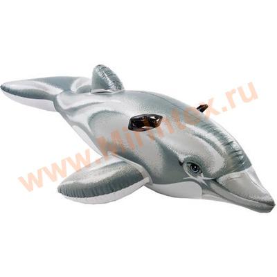 INTEX Плотик Дельфин 201х76см,от 3 лет