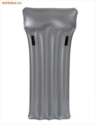 INTEX Матрас с подголовником 188х89 см, (серый)