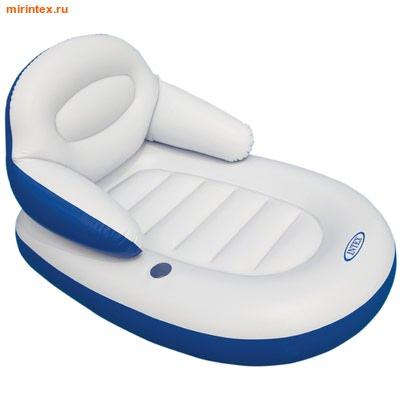 INTEX Матрас со спинкой Comfy cool 184х117 см
