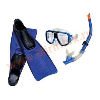 INTEX Набор Reef Rider (маска,трубка,ласты) от 8 лет