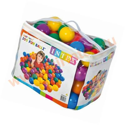 INTEX Шарики 8см в сумке 100шт, 6 цветов