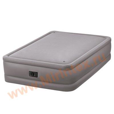 Надувные кровати INTEX Foam Top 152х203х51 см, с встроенным насосом 220В