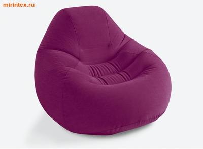 INTEX Кресло надувное 122х127х81 см (бордовое)