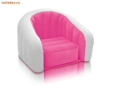 INTEX Кресло 69х56х48см(розовый)