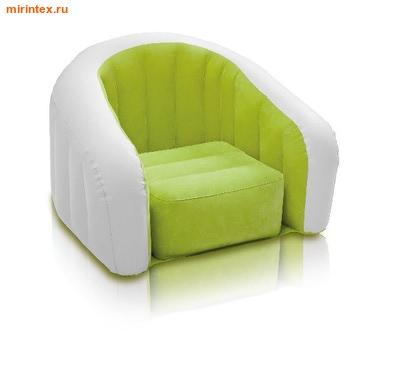 INTEX Кресло 69х56х48см(лайм)