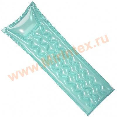 INTEX Пляжный надувной матрас Relax-A-Mat 183х69 см (бирюзовый)
