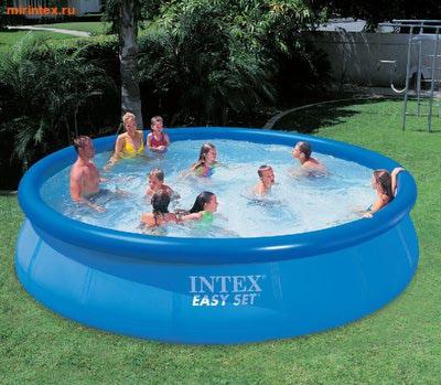 INTEX Бассейн надувной 457х91см
