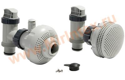 """INTEX 10747/25025 Плунжерные клапана в сборе с фильтрующими муфтами(компл.2+2 шт) д/всех типов фильтр-нас.,патрубок 38мм (1,5"""")"""