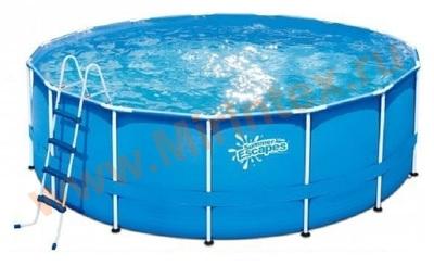 Summer Escapes Бассейн каркасный круглый 457х132 см (лестница, настил, тент)
