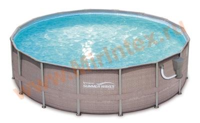 Summer Escapes Р20-1852-В Каркасный бассейн 549х132 см (картриджный фильтр-насос 5,7м3/ч, лестница, подстилка, тент, набор для чистки DELUXE, скиммер)
