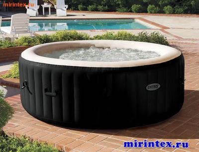 "INTEX Надувной бассейн-джакузи ""PureSpa Jet and Bubble deluxe massage set"" + хлорогенератор 196х71см"