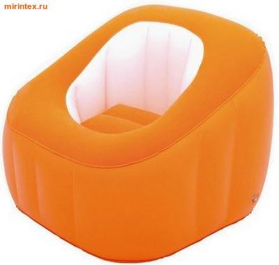 "Bestway Кресло надувное ""Comfi Cube"" 74х74х64 см (оранжевое)"