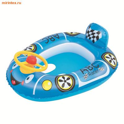 Bestway Круг Патрульная машина, голубая 71х56 см (с трусами)