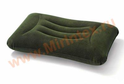 "INTEX Подушка надувная ""Тёмно-зелёная"" 58х36х13 см"
