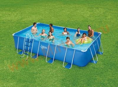 Summer Escapes Бассейн каркасный прямоугольный 549х274х132 см (лестница, тент, настил)