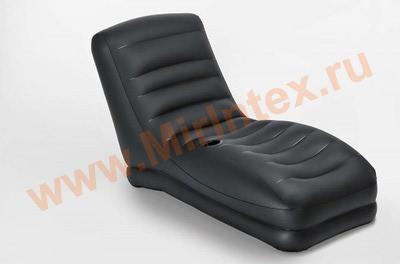 INTEX Шезлонг надувной 81х173х91 см (чёрный)