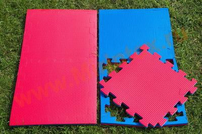 """Будо-мат """"С креплением ласточкин хвост"""" 50х50х2,5см (Сине-красный)"""