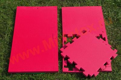"""Будо-мат """"С креплением ласточкин хвост"""" 50х50х1,8см (Красный)"""
