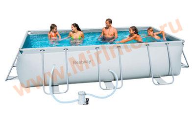 Bestway Бассейн каркасный прямоугольный 404х201х100 см (фильтр-насос 220В)
