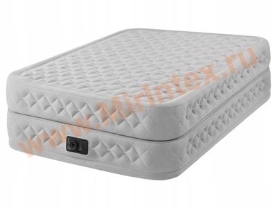 Надувные кровати INTEX Надувная кровать Dura-Beam Plus Series 152х203х51 см, встроенный насос 220V