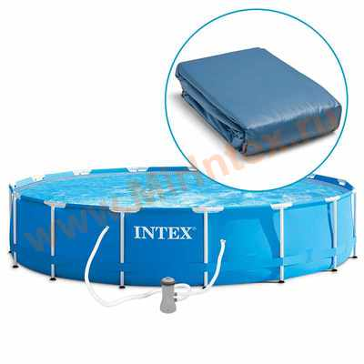 "INTEX 10616 Чаша для круглых каркасных бассейнов Metal Frame 366х76 см (12""х30"")"