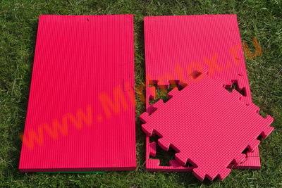 """Будо-мат """"С креплением ласточкин хвост"""" 50х50х2,0см (Красный)"""