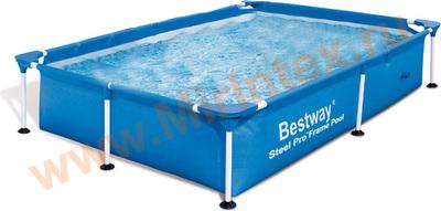 Bestway 56401 Бассейн каркасный прямоугольный 221х150х43 см