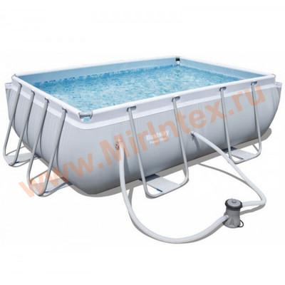 Bestway Бассейн каркасный прямоугольный 282х196х84 см с фильтр-насосом 1,25 м3/ч