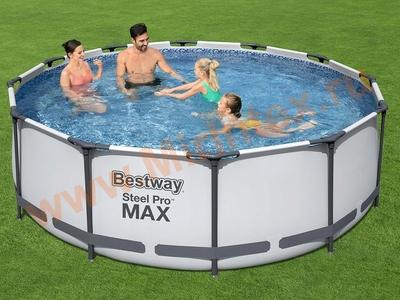 Bestway Бассейн каркасный Steel Pro MAX 366х100 см (фильтр-насос, лестница)