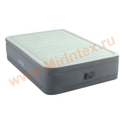 Надувные кровати INTEX PremAire Elevated Airbed 137х191х46 см (с встроенным насосом 220В)