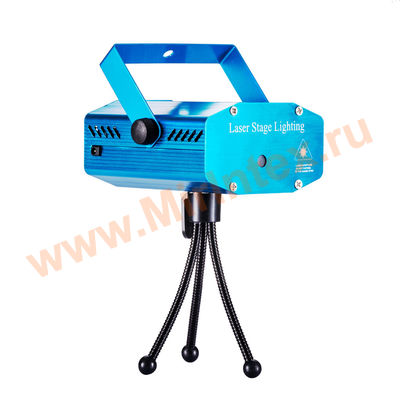 Лазерный мини проектор Laser Stage Lighting mini(новогодняя тематика)