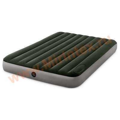 Матрас надувной INTEX DURA-BEAM 152 х 203 х 25 см (со встроенным ножным насосом)