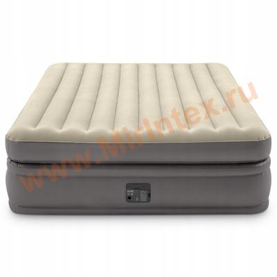 Надувные кровати INTEX Prime comfort elevated Dura-Beam Plus 152Х203Х51 см, встроенный насос 220V