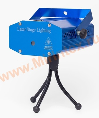 Лазерный проектор мини Laser Stage Lighting mini (звезды)