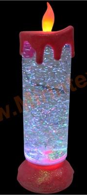 Свеча светодиодная новогодняя декоративная настольная 25 см.(розовая)