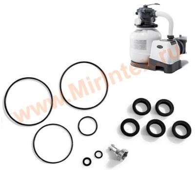 INTEX 25013 Комплект уплотнителей и воздушного спускного клапана для песчаных фильтр-насосов.