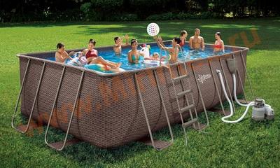 Summer Escapes Р20-2052-S Каркасный бассейн 549х274х132 см (песочный фильтр-насос 5,1 м3/ч, лестница, подстилка, тент, набор для чистки DELUXE, скиммер)