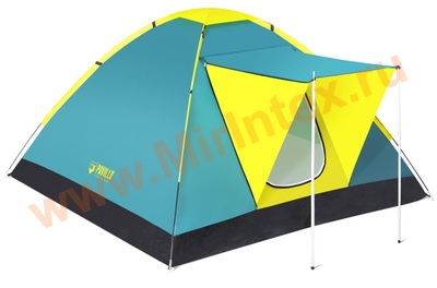 "Bestway 68088 Палатка 3-местная 210x210x120см ""Coolground 3"" 1 слой, 190Т polyester PU, 600мм, 110гр/м2 PE"