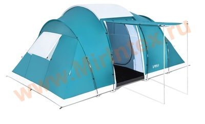 "Bestway 68094 Палатка 6-местная 490x280x200 см ""Family Ground 6"" 2 слоя, 190T polyester PU, 3000мм, 120гр/м2 PE"