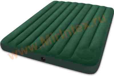 Надувные матрасы INTEX Downy Bed 152х203х22 см (со встроенным ножным насосом)